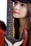 Δροσερός θηλυκός μουσικός Στοκ εικόνα με δικαίωμα ελεύθερης χρήσης