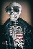 Δροσερός καπνιστής σκελετών Στοκ Φωτογραφία