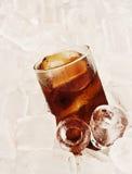 δροσερός πάγος γυαλιού κόλας ανασκόπησης Στοκ εικόνα με δικαίωμα ελεύθερης χρήσης