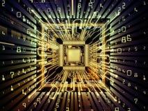 Δροσερός υπολογιστής ΚΜΕ απεικόνιση αποθεμάτων