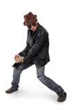 Δροσερός bluesman Στοκ φωτογραφία με δικαίωμα ελεύθερης χρήσης