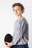 Δροσερό αγόρι και skateboard του Στοκ Εικόνα