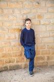 Δροσερό βέβαιο αγόρι Στοκ φωτογραφία με δικαίωμα ελεύθερης χρήσης