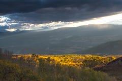 Δροσερό βράδυ φθινοπώρου του Κολοράντο στοκ φωτογραφίες