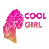 Δροσερό μπάλωμα κοριτσιών Στοκ φωτογραφίες με δικαίωμα ελεύθερης χρήσης