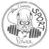 Δροσερό λογότυπο κρανίων Στοκ Εικόνες
