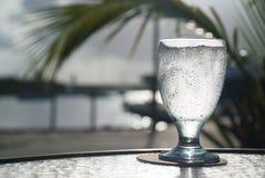 Δροσερό ποτήρι του νερού τροπικό Στοκ φωτογραφία με δικαίωμα ελεύθερης χρήσης