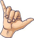 δροσερό χέρι χειρονομίας Στοκ Εικόνες