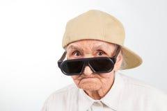 Δροσερό grandma Στοκ εικόνα με δικαίωμα ελεύθερης χρήσης