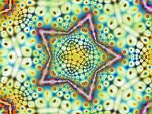 δροσερό psychedelic αστέρι προτύπων Στοκ φωτογραφία με δικαίωμα ελεύθερης χρήσης