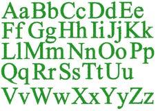 δροσοσταλίδες αλφάβητ&om Στοκ Φωτογραφία