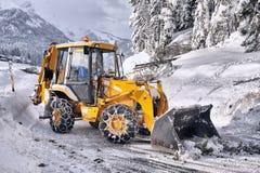 Δρόμοι καθαρίσματος του χιονιού στοκ εικόνα με δικαίωμα ελεύθερης χρήσης