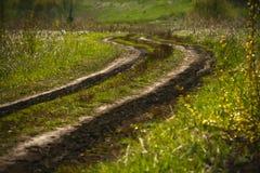 Δρόμος άνοιξη βουνών Στοκ Εικόνα