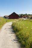 Οδικό καλοκαίρι Σουηδία αμμοχάλικου Στοκ εικόνα με δικαίωμα ελεύθερης χρήσης