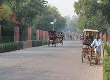 Δρόμος ανατολικών πυλών Taj, Agra, Ουτάρ Πραντές, Ινδία Στοκ φωτογραφίες με δικαίωμα ελεύθερης χρήσης