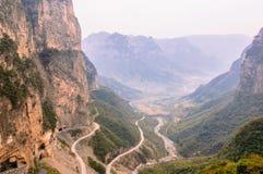 Δρόμος απότομων βράχων στοκ φωτογραφία