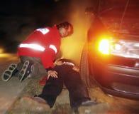 δρόμος ατυχήματος στοκ φωτογραφίες με δικαίωμα ελεύθερης χρήσης