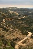 δρόμος βουνών καμπυλών στοκ φωτογραφίες