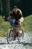 δρόμος βουνών ποδηλατών στοκ φωτογραφίες