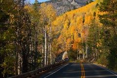 δρόμος βουνών πτώσης χρώματ&om Στοκ εικόνα με δικαίωμα ελεύθερης χρήσης
