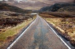 Δρόμος βουνών, σκωτσέζικο Χάιλαντς Στοκ Εικόνα