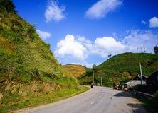 Δρόμος βουνών στο βόρειο Βιετνάμ Στοκ φωτογραφία με δικαίωμα ελεύθερης χρήσης