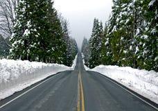 δρόμος βουνών χιονώδης Στοκ Εικόνες