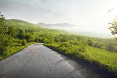 Δρόμος βουνών Στοκ Φωτογραφία