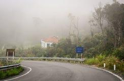 Δρόμος βουνών Giao Hon στη misty ημέρα σε Dalat, Βιετνάμ Στοκ Εικόνες