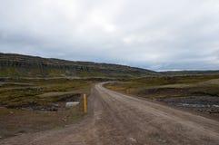 Δρόμος βουνών Oxi στην Ισλανδία Στοκ Εικόνες