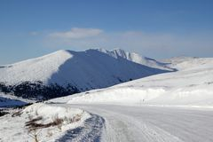 δρόμος βουνών sayan σε δυτικό στοκ εικόνες