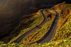 Δρόμος βουνών Serpantine Στοκ Φωτογραφία
