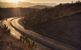 Δρόμος βραδιού Στοκ Εικόνες