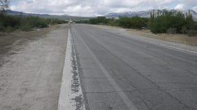 Δρόμος εθνικών οδών του Μεξικού Baja Στοκ Εικόνες