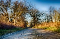 Δρόμος επαρχίας αγροτικός Στοκ φωτογραφία με δικαίωμα ελεύθερης χρήσης