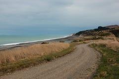 Δρόμος επαρχίας κατά μήκος της ωκεάνιας ακτής Στοκ Φωτογραφία