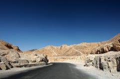 δρόμος ερήμων δύσκολος στοκ εικόνα με δικαίωμα ελεύθερης χρήσης