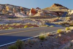 Δρόμος ΗΠΑ ερήμων Στοκ εικόνα με δικαίωμα ελεύθερης χρήσης