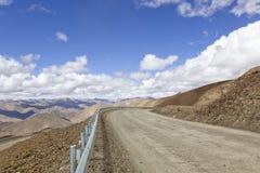 δρόμος Θιβέτ βουνών Στοκ Φωτογραφία