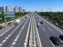 Δρόμος και εθνική οδός πόλεων της Κίνας Πεκίνο Στοκ Εικόνες