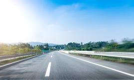 Δρόμος και ουρανός Στοκ Εικόνες