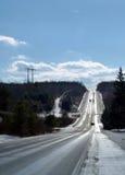 Δρόμος και ουρανός Στοκ φωτογραφίες με δικαίωμα ελεύθερης χρήσης