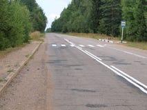 Δρόμος και στάση λεωφορείου πέντε Στοκ Φωτογραφίες