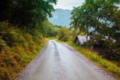 Δρόμος καμπυλών βουνών Στοκ Φωτογραφίες