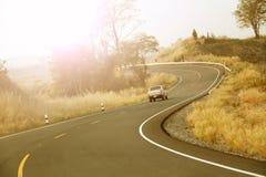 Δρόμος καμπυλών στο βουνό Στοκ Φωτογραφίες
