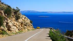 Δρόμος κατά μήκος της θάλασσας Κροατία στοκ φωτογραφία