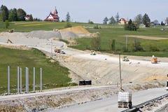 δρόμος κατασκευής κάτω Στοκ φωτογραφίες με δικαίωμα ελεύθερης χρήσης
