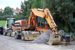 δρόμος κατασκευής Στοκ φωτογραφία με δικαίωμα ελεύθερης χρήσης