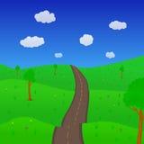 Δρόμος κινούμενων σχεδίων στοκ εικόνες με δικαίωμα ελεύθερης χρήσης