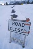 Δρόμος κλειστός Στοκ Φωτογραφία